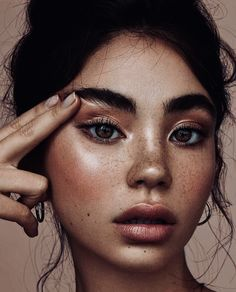 Beauty face natural no Makeup, Aesthetic Makeup, Makeup aesthetic Disney Instagram, Instagram Girls, Instagram Pose, Singapore Fashion, Makeup Looks For Brown Eyes, Nail Art, Landscape Illustration, Illustration Art, Street Style
