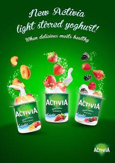 Danone Activia Yogurt Light Stirred Advertising Campaign