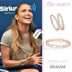 She loves BRUMANI!!! Jennifer Lopez wearing Looping Shine Collection! #jenniferlopez #jlo #brumani #brumanijewelry #loopingshine #earrings #bracelet #quartz #diamonds #instajewel #instafashion #chic #glamour #stunning #gold #lookoftheday #musthave #trend #jewel #fashion #enchanting #hoops #fresh #perfect