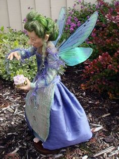 Fairy doll that I sculpted from polymer clay in a workshop with Wendy Froud.
