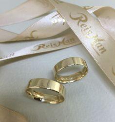 Alianças São Paulo SP ♥ Casamento e Noivado em Ouro 18K - Reisman