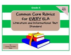 KINDERGARTEN COMMON CORE ELA RUBRICS! This document includes a rubric for EVERY Literature and Informational Text Common Core ELA Standard. There is also a Foundational Skills progress checklist included too! These rubrics are a fantastic way to assess understanding of each standard.