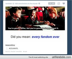 Did You Mean.. EVERY FANDOM EVER?(Not a Harry Potter person...but this is just too funny xD)