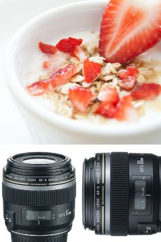 Stunning food photography requires a stunning macro lens. For photographers whose idea of a close-up is a single strawberry or grain of rice, the Canon EF-S 60mm f/2.8 Macro USM lens makes it happen.  Embrace your inner food photographer; get this Macro Lens from Beach Camera today!