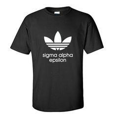 Sigma Alpha Epsilon Adidas Custom Printed T Shirt - Gildan 5000- CAD