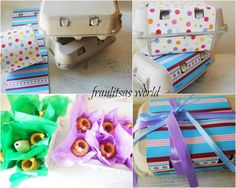 Easter ideas Diy Gifts, Wraps, Packaging Ideas, Easter Ideas, Wrapping, Blog, Sweets, Gummi Candy, Candy