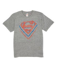 Gray, Red & Blue Superman Logo Tee - Toddler & Kids #zulilyfinds