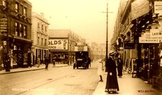 Old Postcard - High Road Willesden