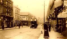 Old Postcard - High Road Willesden