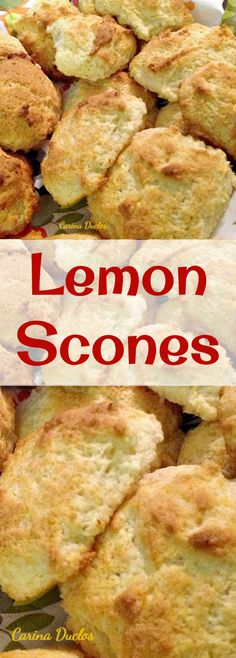 Lemon Scones! These little scones are very easy to make and go perfect as a tea time snack! Serve warm or cold with some butter and jam or simply eat them as they are fresh from the oven. Yummy! Quick Bread, Cake Cookies, Scone Recipes, Lemon Recipes, Baking Recipes, Breakfast Recipes, Dessert Recipes, Drop Scones, Lemon Scones