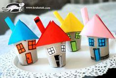 Huisjes van wcrolletjes
