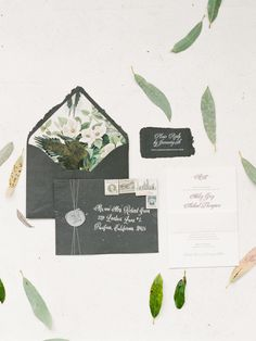 Greenery-inspired wedding invitation suite: Photography: Sorella Muse - www.sorella-muse.com   Read More on SMP: http://www.stylemepretty.com/2017/01/31/the-blueprint-for-using-pantones-color-of-the-year-in-your-wedding/