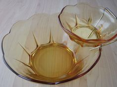 Vintage Butterscotch Yellow Glass Chip and by EverydayVintage2012, $15.00