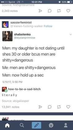 i'm dead look, i don't actually believe all men are dangerous but it's true we are taught men are dangerous by men themselves