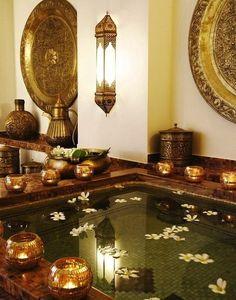 moroccan bathroom #candlelights