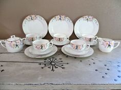 Hand Painted Nippon China Tea  Set Coffee by VintageShoppingSpree, $125.00