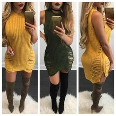 Denise Sleeveless Knit Sweater / Dress - Diva Boutique Online - 1