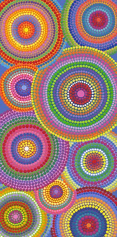 Dots upon dots, circles upon circles. Would be interesting to try with melted crayons!
