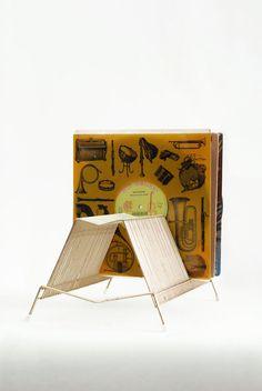 Vtg record stand / mid century vinyl storage / 60s atomic age gold tone metal album organizer / retro 40 slot record rack on Etsy, $18.70