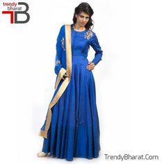 #Exclusive #Designer #Dress #Royal #Blue #Betrendy