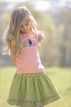 Persnickety Clothing   Lily Skirt - Green - Bo Peep - One Good Thread #OGTBoPeep