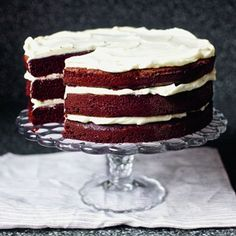 Red Wine Velvet Cake with whipped Mascarpone frosting from The Smitten Kitchen Cookbook