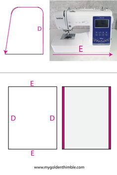 Learn how to make your own sewing machine cover pattern with this easy step by step easy video tutorial. I made this cover quilted and with 2 side pockets for my brother machine, but I will teach you how to make it for any size. Sewing Machine Quilting, Brother Embroidery Machine, First Sewing Projects, Sewing Class, Sewing Caddy, Sewing Box, Printer Cover, Brother Sewing Machines, Sewing To Sell