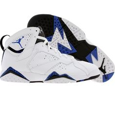 save off 23cc9 e6378 Air Jordan VII White blue black Athletic Outfits, Sport Outfits, Fall  Outfits