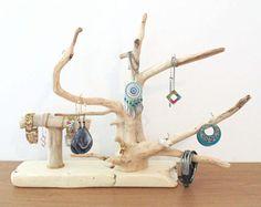 Arbre à bijoux en bois flotté - présentoir - porte bijoux -