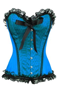 Blue Burlesque Corset and naturally a fully steel boned corset to enhance your curves. This burlesque corset is also available as a plus size corset as are all the steel boned corsets on this site.