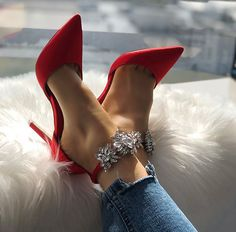 ❤️Stylish Red Pumps