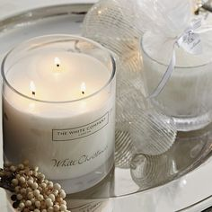 Ignite the festivities in your home this Christmas, with The White Company's gorgeous Christmas fragrances & candles collection. Shop our Christmas scents Large Candles, 3 Wick Candles, Candle Jars, Candle Holders, Christmas Scents, Christmas Time, Holiday, Almond Blossom, The White Company