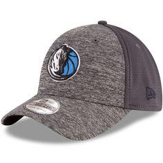 Dallas Mavericks New Era Shadowed Team 39THIRTY Flex Hat - Heathered Gray/Graphite - $27.99