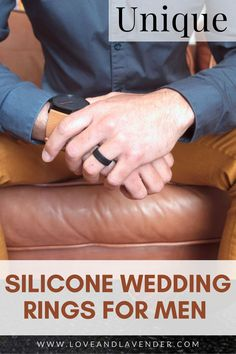 They're so practical, a lot of guys (and women) are asking why the heck silicone rings weren't on the scene sooner? These durable rings are becoming especially popular among men who play sports or whose jobs are particularly unforgiving to wedding bands. This is why we put together a short guide to the Unique Silicone Wedding Rings for Men. Repin this idea! #rings #weddingrings #siliconerings #mensrings #engagementrings