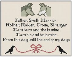 Game Of Thrones Blessing - Cross Stitch PDF Pattern Instant Download