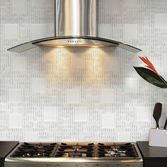 Instant Mosaic Random Sized Glass Peel & Stick Mosaic Tile in Pure White
