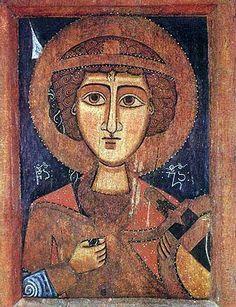 Angel - Coptic icon, probably Ethiopinan Byzantine Icons, Byzantine Art, Religious Icons, Religious Art, Gabriel, Book Of Kells, Orthodox Icons, Medieval Art, Sacred Art