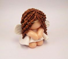 Polymer Clay Praying Angel