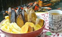 Steamed Banana, Sweet Potatoes and Cassava Indonesian Food
