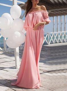 Boho Evening Party Off Shoulder Long Maxi Dress