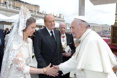 Juan Carlos y Sofía y el Papa Francisco