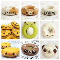 The gang's all here!--looks like they are ready to go for a swim in some Copper Moon coffee. Adorable donut animals
