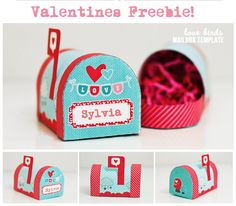 Free printable for Valentine's mailbox - cute template to decorate our mailboxes for V-day! :)
