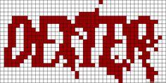 Dexter logo tv perler bead pattern