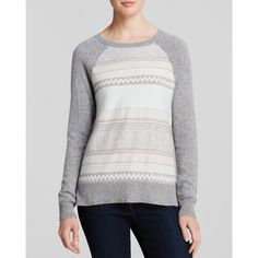 """""""Quotation Sweater - Bloomingdale's Exclusive Fair Isle Raglan Cashmere"""" found on Polyvore"""