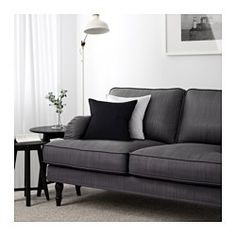 IKEA - STOCKSUND, Loveseat, Nolhaga gray-beige, light brown, , You get extra soft comfort and support because the thick cushion has a core of pocket springs and a top of cut foam and polyester fibers.The wider seat angle makes the sofa feel deeper and you sit more comfortably.The core of pocket springs is durable and keeps its form and soft comfort for a longer time.The cover is easy to keep clean as it is removable and can be machine washed.Tailored cover in a durable yarn-dyed cotton and…