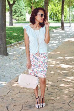 Falda de flores #gabbysweetstyle