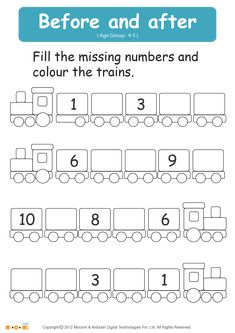 best nursery worksheets images  learning preschool math  before and after number  math worksheet for kids for more interesting maths  worksheets and