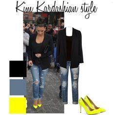 Kim Kardashian style by kirsty2011dodgs on Polyvore... - Kim Kardashian Style