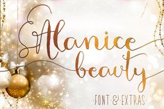 AlaNice Calligraphy Font with Swashes by mycandythemes on Etsy https://www.etsy.com/listing/210961632/alanice-calligraphy-font-with-swashes